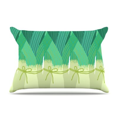 Leeks by Laura Nicholson Featherweight Pillow Sham Size: King, Fabric: Woven Polyester