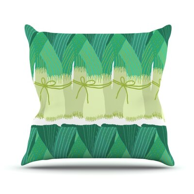 Leeks Throw Pillow Size: 20