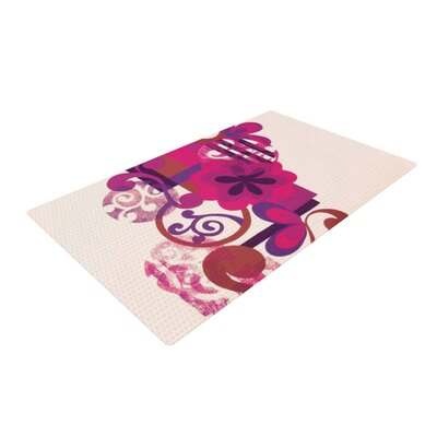 Louise Machado Lilac Pink Area Rug Rug Size: 2 x 3