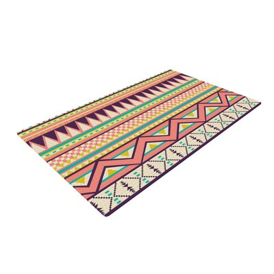 Louise Machado Ethnic Love Tribal Geometric Red/Orange Area Rug Rug Size: 4 x 6