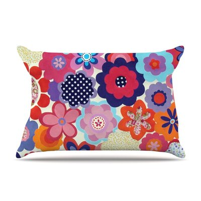 Patchwork Flowers by Louise Machado Featherweight Pillow Sham Size: Queen, Fabric: Woven Polyester