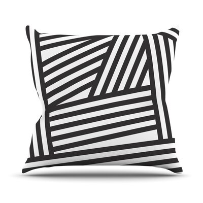 Stripes by Louise Machado Throw Pillow Size: 16 H x 16 W x 3 D