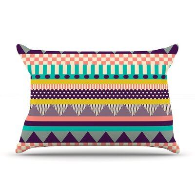 Decorative Stripes by Louise Machado Featherweight Pillow Sham Size: King, Fabric: Woven Polyester