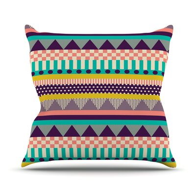 Decorative Stripes by Louise Machado Throw Pillow Size: 16 H x 16 W x 3 D