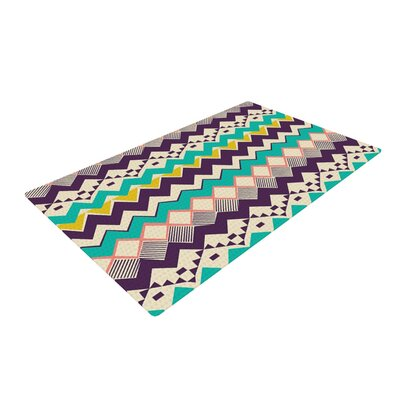 Louise Machado Ethnic Color Teal/Purple Area Rug Rug Size: 4 x 6