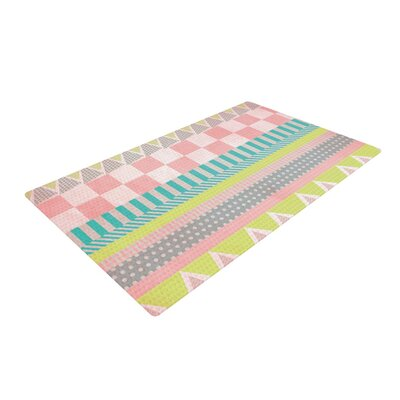 Louise Machado Luna Pattern Pink/Yellow Area Rug Rug Size: 2 x 3