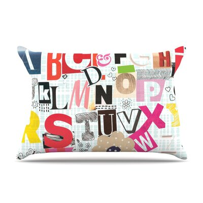 ABC by Louise Machado Featherweight Pillow Sham Size: Queen, Fabric: Woven Polyester