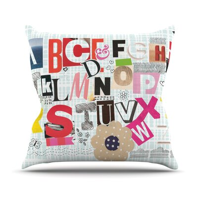 ABC by Louise Machado Throw Pillow Size: 18 H x 18 W x 3 D