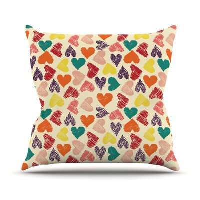 Little Hearts Throw Pillow Size: 16 H x 16 W