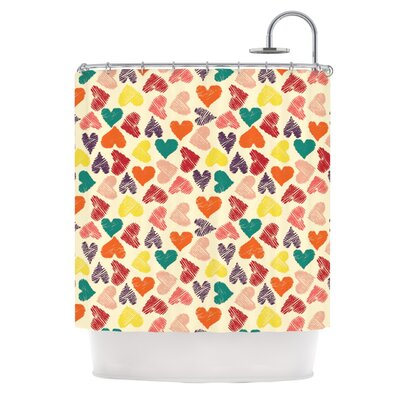 Little Hearts Shower Curtain
