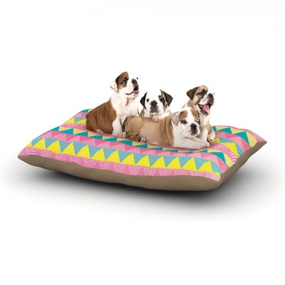 Louise Machado Triangles Dog Pillow with Fleece Cozy Top Size: Small (40 W x 30 D x 8 H)