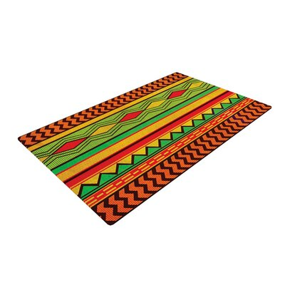 Louise Machado Egyptian Red/Orange Area Rug Rug Size: 4 x 6
