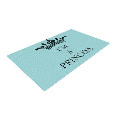 Louise Machado Im a Princess Blue Area Rug Rug Size: 2 x 3