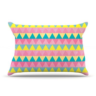 Triangles by Louise Machado Featherweight Pillow Sham Size: Queen, Fabric: Woven Polyester
