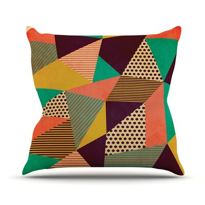 Geometric Love II by Louise Machado Throw Pillow Size: 18 H x 18 W x 3 D