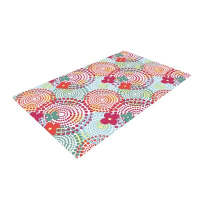Louise Machado Balls Red/Blue Area Rug Rug Size: 2 x 3