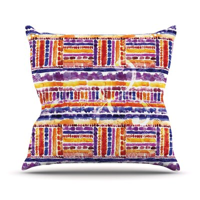 Tribal Throw Pillow Size: 18 H x 18 W