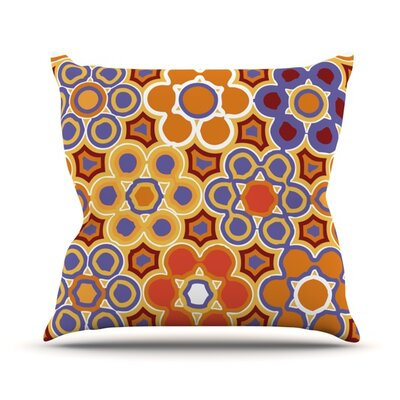 Flower Garden Throw Pillow Size: 16 H x 16 W