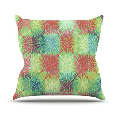 Multi Lacy Throw Pillow Size: 18 H x 18 W
