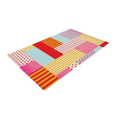 Louise Machado Geometric Pop Abstract Red Area Rug Rug Size: 4 x 6
