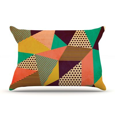 Geometric Love II by Louise Machado Featherweight Pillow Sham Size: King, Fabric: Woven Polyester