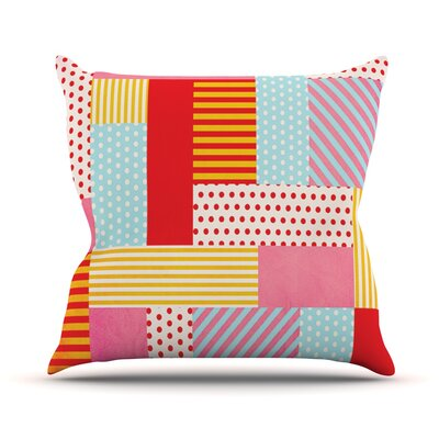 Geometric Pop by Louise Machado Throw Pillow Size: 18 H x 18 W x 3 D