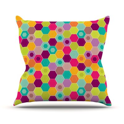 Arabian Bee Throw Pillow Size: 18 H x 18 W