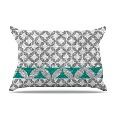 Diamond Black Pillow Case Size: Standard, Color: Turquoise