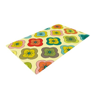 Nicole Ketchum Forest Bloom Yellow Area Rug Rug Size: 4 x 6