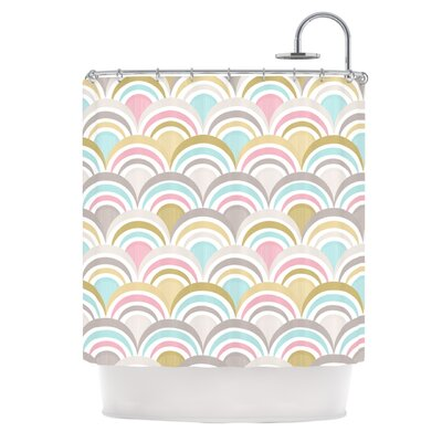 Art Deco Shower Curtain Color: Delight