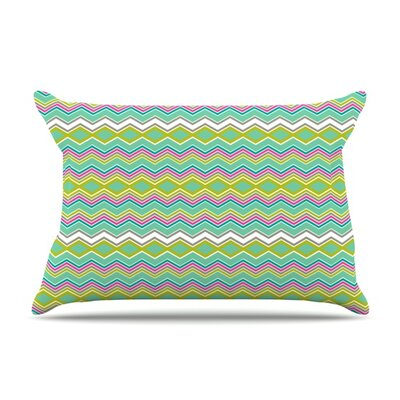 Chevron Love by Nicole Ketchum Featherweight Pillow Sham Size: King, Fabric: Woven Polyester