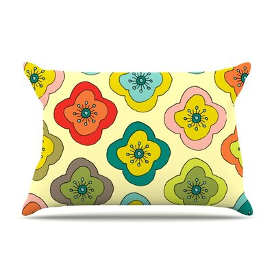 Forest Bloom by Nicole Ketchum Featherweight Pillow Sham Size: King, Fabric: Woven Polyester