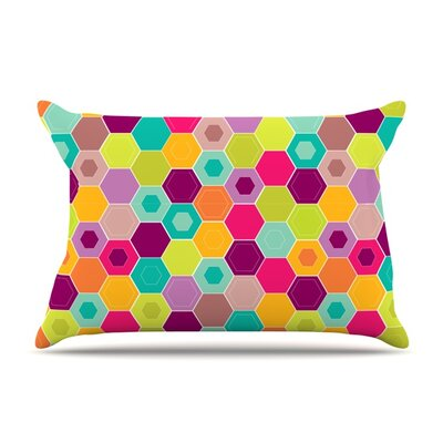 Arabian Bee by Nicole Ketchum Featherweight Pillow Sham Size: Queen, Fabric: Woven Polyester