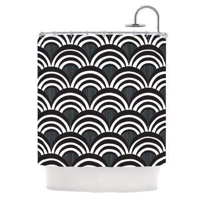 Art Deco Shower Curtain Color: Black