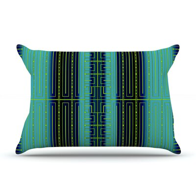 Deco City by Nina May Featherweight Pillow Sham Size: King, Fabric: Woven Polyester