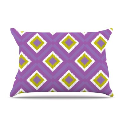 Purple Spash Tile by Nicole Ketchum Featherweight Pillow Sham Size: King, Fabric: Woven Polyester