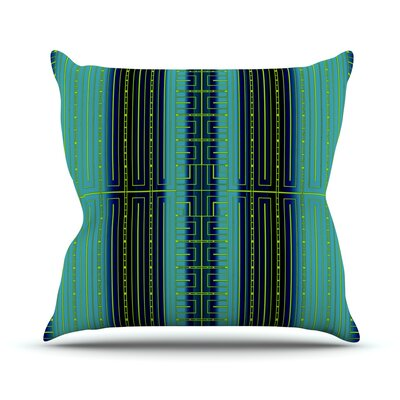 Throw Pillow Color: Deco City, Size: 26 H x 26 W