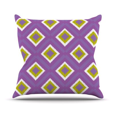 Purple Splash Tile Throw Pillow Size: 18 H x 18 W