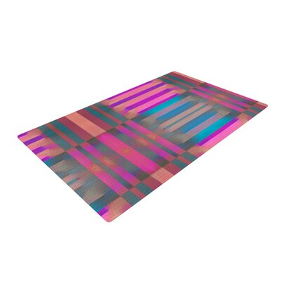 Nina May Tracking Stripes Pink/Blue Area Rug Rug Size: 2 x 3