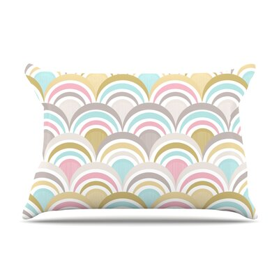 Art Deco Pillow Case Size: King, Color: Delight
