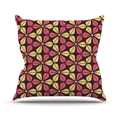 Infinite Flowers Throw Pillow Color: Red, Size: 18 H x 18 W