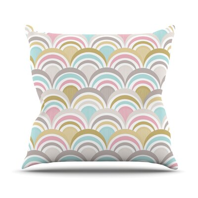 Art Deco Throw Pillow Size: 18 H x 18 W, Color: Delight
