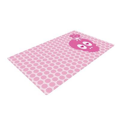 Nick Atkinson Skull Pink Area Rug Rug Size: 4 x 6