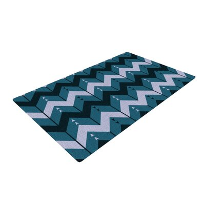 Nick Atkinson Chevron Dance Blue Area Rug Rug Size: 4 x 6