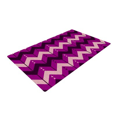 Nick Atkinson Chevron Dance Purple Area Rug Rug Size: 2 x 3