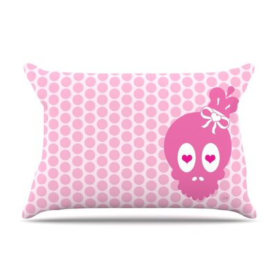 Skull by Nick Atkinson Featherweight Pillow Sham Size: Queen, Fabric: Woven Polyester