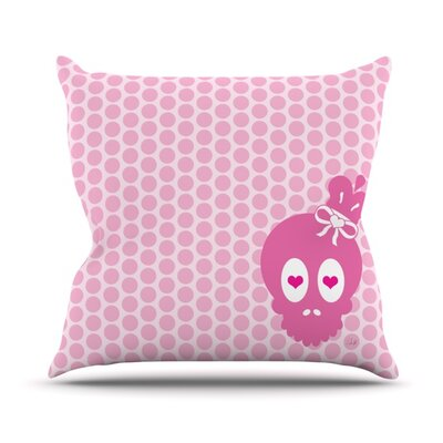 Skull Throw Pillow Size: 18 H x 18 W