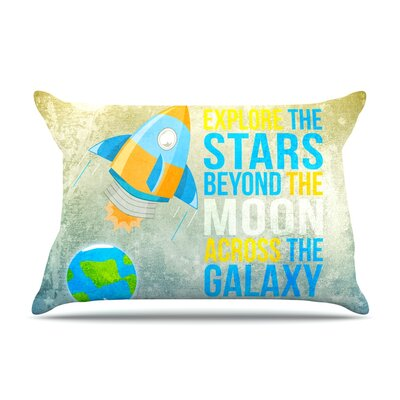 Explore the stars by Nick Atkinson Featherweight Pillow Sham Size: King, Fabric: Woven Polyester