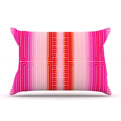 Deco City Blush by Nina May Featherweight Pillow Sham Size: Queen, Fabric: Woven Polyester