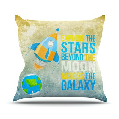 Explore The Stars Throw Pillow Size: 18 H x 18 W